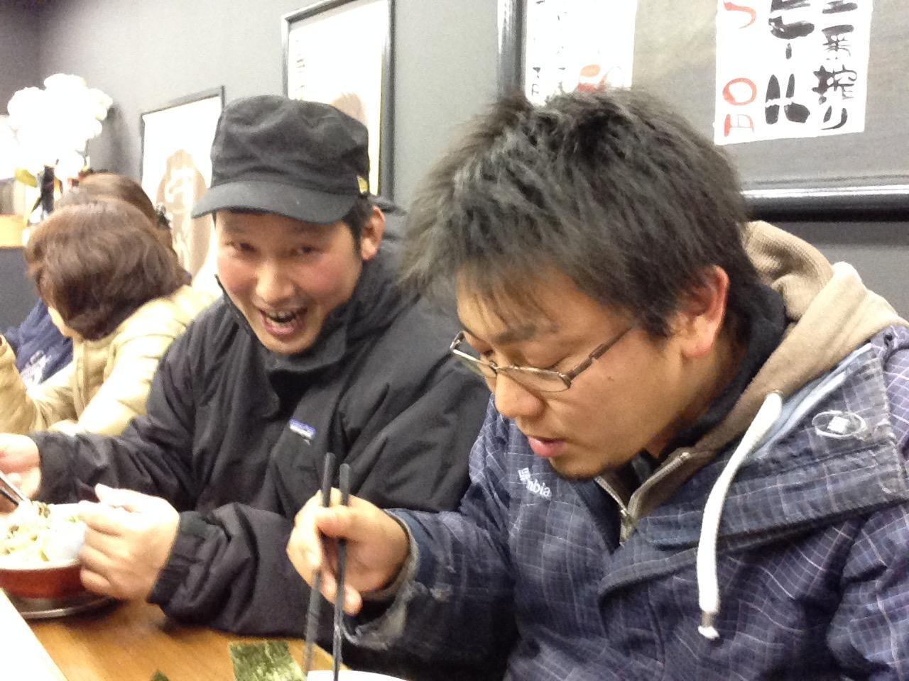 当園代表阿部と、ユース代表の岩井氏は地元の先輩⇔後輩の間柄です